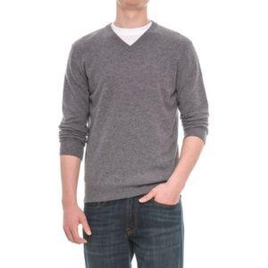 New Mantovani Studio 100% Cashmere Sweater V-Neck